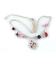 Viva Beads® Charm Necklace - Plum Orchard