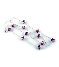 Viva Beads® Cluster Chain Necklace - Plum Orchard