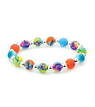 Viva Beads® Aquarium 8mm Classic Silverball Bracelet - Multicolored