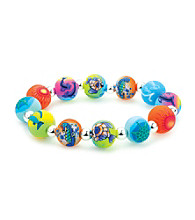 Viva Beads® Aquarium 12mm Chunky Silverball Bracelet - Multicolored
