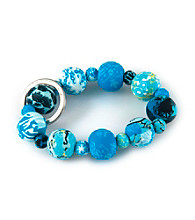 Viva Beads® Keychain Wrist Blue Brook - Blue