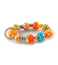 Viva Beads® Keychain Wrist Pumpkin Spice - Orange