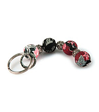 Viva Beads® Keychain 4-ball Candy Apple - Gray/Pink