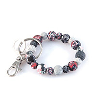 Viva Beads® Keychain 10mm Clip Candy Apple - Gray/Pink