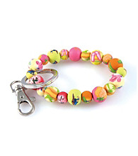 Viva Beads® Keychain 10mm Clip Florida - Green/Pink