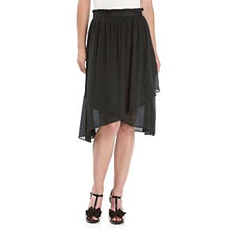 Spense® Mid-Length Soft Slub Skirt