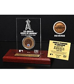 MLB® Los Angeles Angels Stadium Infield Dirt Coin Etched Acrylic