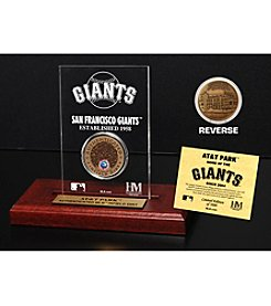 MLB® San Francisco Giants AT&T Park Infield Dirt Coin Etched Acrylic