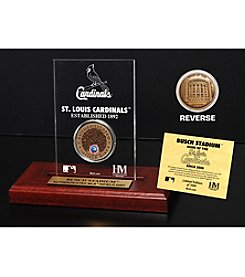 MLB® St. Louis Cardinals Busch Stadium Infield Dirt Coin Etched Acrylic