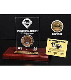 MLB® Philadephia Phillies Citizens Bank Park Infield Dirt Coin Etched Acrylic