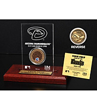Chase Field Infield Dirt Coin Etched Acrylic by Highland Mint