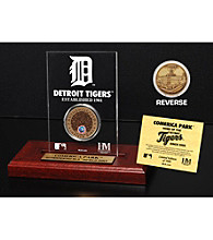 Comerica Park Infield Dirt Coin Etched Acrylic by Highland Mint
