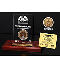 Coors Field Infield Dirt Coin Etched Acrylic by Highland Mint