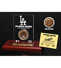 Dodger Stadium Infield Dirt Coin Etched Acrylic by Highland Mint