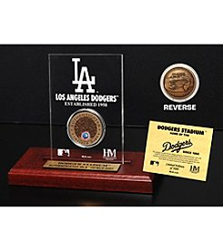 MLB® Los Angeles Dodgers Stadium Infield Dirt Coin Etched Acrylic