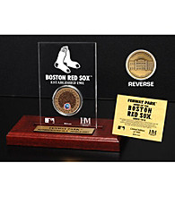 Fenway Park Infield Dirt Coin Etched Acrylic by Highland Mint