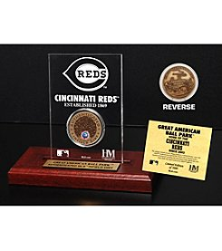 MLB® Cincinnati Reds Great American Ball Park Infield Dirt Coin Etched Acrylic