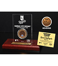 Kauffman Stadium Infield Dirt Coin Etched Acrylic by Highland Mint