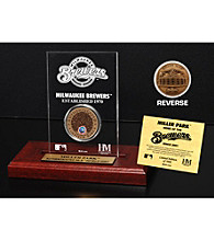 Miller Park Infield Dirt Coin Etched Acrylic by Highland Mint
