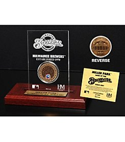 MLB® Milwaukee Brewers Miller Park Infield Dirt Coin Etched Acrylic