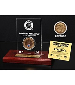 MLB® Oakland Athletics Oakland-Alemeda County Coliseum Infield Dirt Coin Etched Acrylic