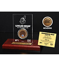 Progressive Field Infield Dirt Coin Etched Acrylic by Highland Mint