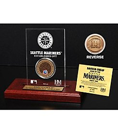 MLB® Seattle Mariners Safeco Field Infield Dirt Coin Etched Acrylic