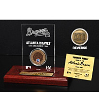 Turner Field Infield Dirt Coin Etched Acrylic by Highland Mint