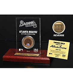 MLB® Atlanta Braves Turner Field Infield Dirt Coin Etched Acrylic
