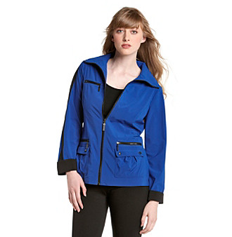 Laura Ashley® Blue Weekend Jacket with Colorblocking