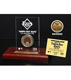 MLB® Tampa Bay Rays Tropicana Field Infield Dirt Coin Etched Acrylic