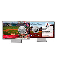 Angels Stadium Silver Coin Card by Highland Mint