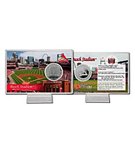 Busch Stadium Silver Coin Card by Highland Mint