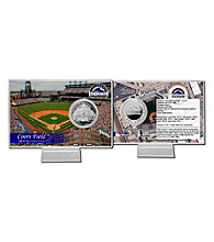 Coors Field Silver Coin Card by Highland Mint