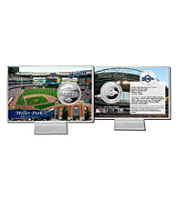 Miller Park Silver Coin Card by Highland Mint