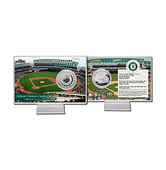 Oakland-Alameda County Coliseum Silver Coin Card by Highland Mint