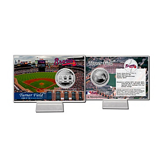 Turner Field Silver Coin Card by Highland Mint