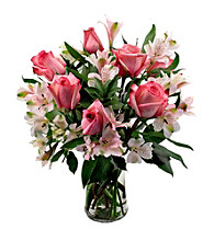 Sweets in Bloom® Pink & Flirty Rose Bouquet
