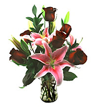 Sweets in Bloom® Serenity Rose & Lily Arrangement
