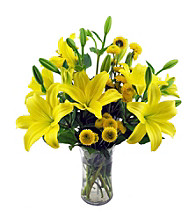 Sweets in Bloom® Yellow Sunshine Floral Arrangement