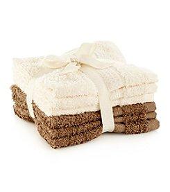 LivingQuarters 6-pk. Ecru & Amphora Cotton Washcloths