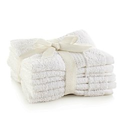 LivingQuarters 6-pk. White Cotton Washcloths