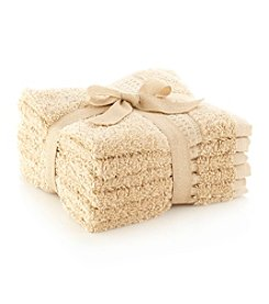 LivingQuarters 6-pk. Driftwood Cotton Washcloths