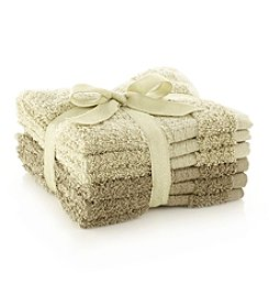 LivingQuarters 6-pk. Thyme & Vintage Green Cotton Washcloths