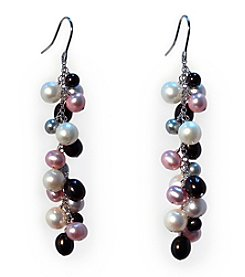 Effy® Sterling Silver Multicolored Freshwater Pearl Drop Earrings