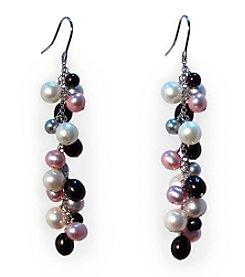 Effy® Sterling Silver Multicolored Freshwater Pearl Drop Earrings