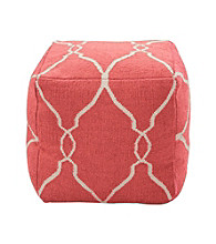 Moroccan-Inspired Square Patterned Pouf
