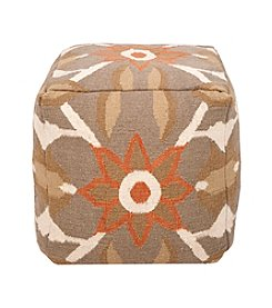 Chic Designs Square Dusky Green Southwestern Pouf