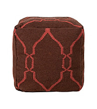 Surya Square Dark Chocolate & Cerise Pouf