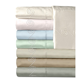 Veratex® Supreme Sateen 300-Thread Count Egyptian Cotton Swirl Sheet Sets
